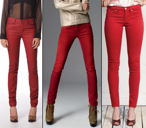 All About Red Skinny Jeans