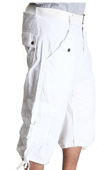 All About White Cargo Shorts