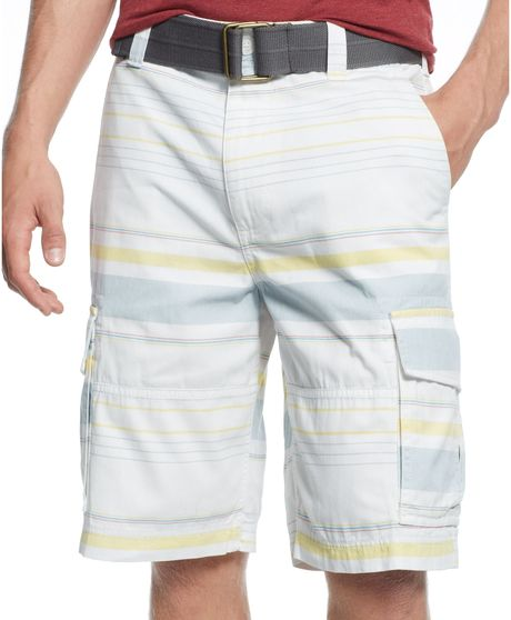 American White Cargo Shorts For Men