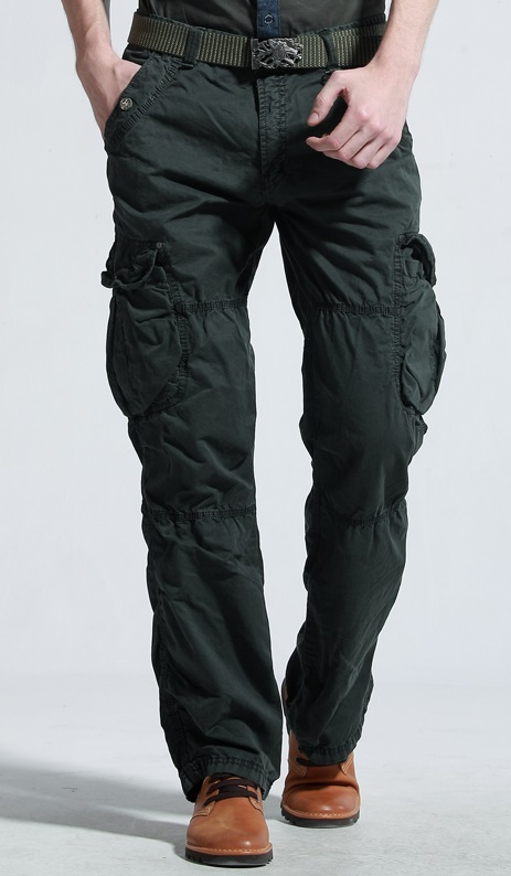 Black Army Cargo Pants For Men