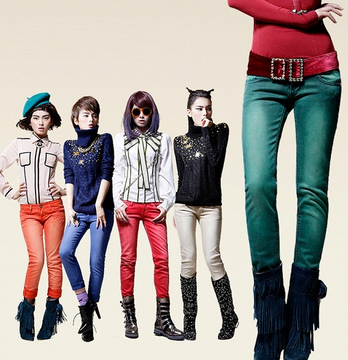 Buy A  Red Skinny Jeans For Women