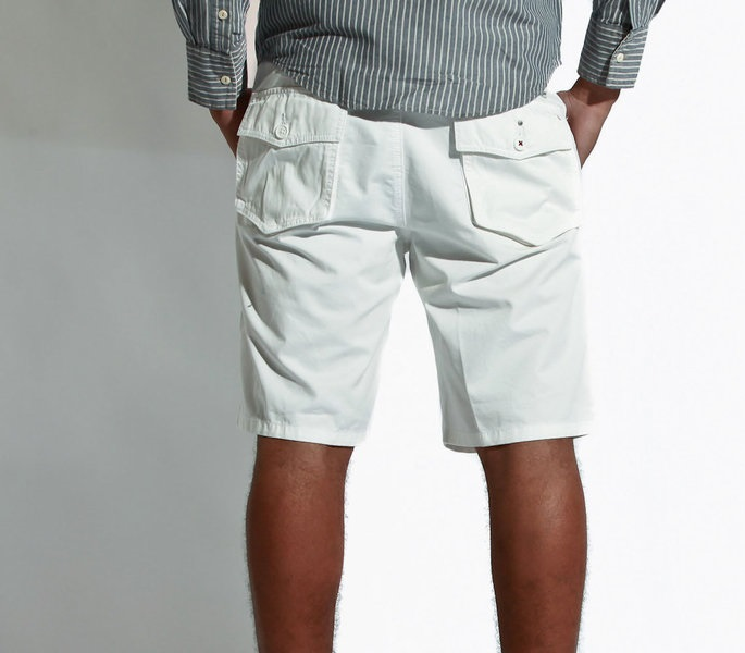 Casual White Cargo Shorts For Boys