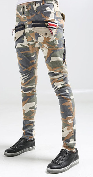 Cool Military Camo Skinny Jeans for Men