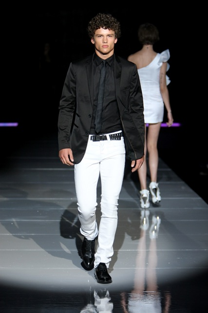 men in white jeans - Jean Yu Beauty