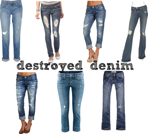 Different Styles For Destroyed Denim Jeans