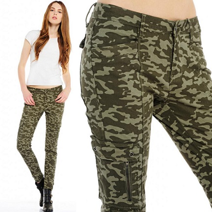 Fashionable Camo Skinny Jeans For Men