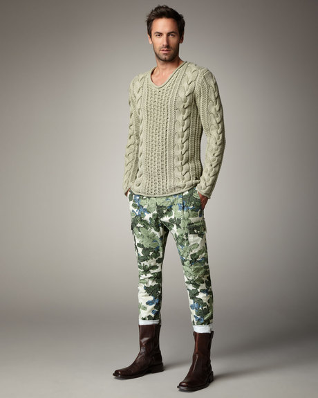 Get Authentic Cavalli Camouflage Cargo Pants