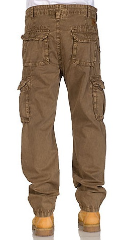 Italian Khaki Cargo Pants For Men