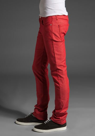 New Style Red Skinny Jeans For Boys