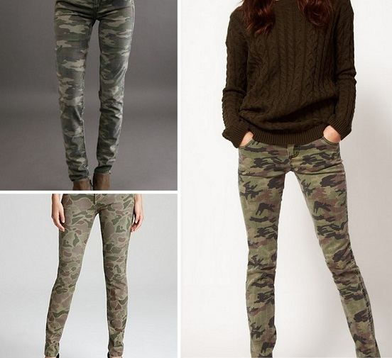 Sexy Casual Camo Skinny Jeans For Women