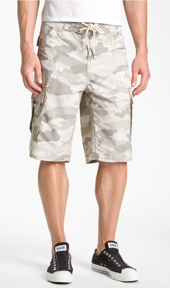 Shop for White Camo Cargo Shorts