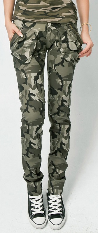 Trendy Camouflage Skinny Jeans For Women
