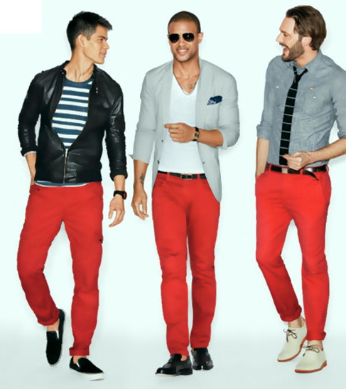Trendy Red Skinny Jeans For Men