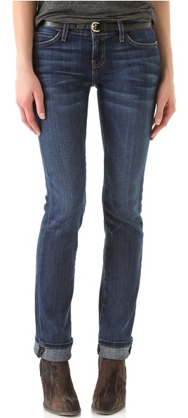 Womens Slim Straight Leg Jeans
