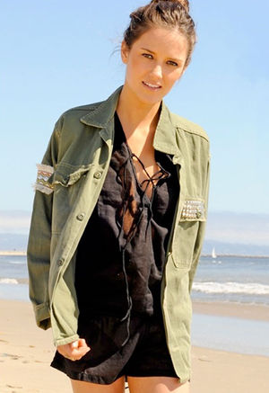 Womens Vintage Army Jacket