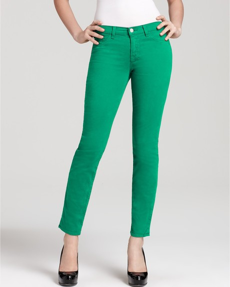 All About Green Skinny Jeans