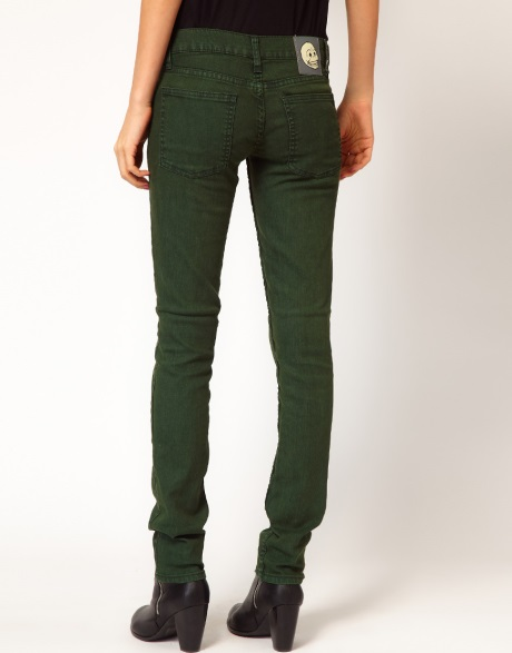 Get Cheap Dark Green Skinny Jeans