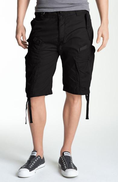 Trendy Black Cargo Shorts For Boys